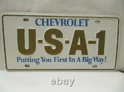 Nos 1970 Chevrolet Usa-1 Steel License Plate Camaro Chevelle Impala Nova Ss