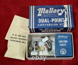 Nos Mallory Conversion Double Point Ford Y-block V8 Hot Rod Distributeur Personnalisé Vtg