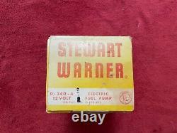 Nos Stewart Warner Pompe À Carburant D-240-a Shelby Cobra Gt-40 Ford Trans Am 12 Volt