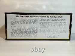 Nouveau 118 1972 Cuda. Missile Motown. #10 Dans La Série Commémorative. Limité Ed