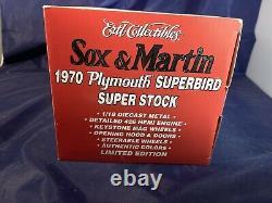 Nouveauté En Boîte Lmtd Edition Sox & Martin 1970 Plymouth Superbird #1 Dans La Série 118