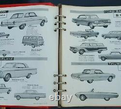 Original De 1963 Ford Dealer Facts Book Fairlane Galaxie Falcon Van Thunderbird