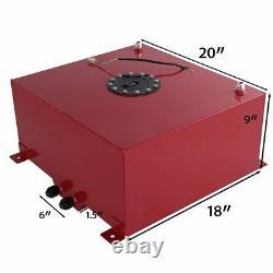 Red Aluminium Noir Bouchon Réservoir De Pile À Combustible De Voiture 13 Gallon / 50 Litres + Expéditeur De Jauge