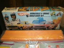 Regarder! Ttf Tough To Find Pre-owed 1969 Mattel Mongoose & Snake Drag Race Set