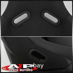 Spg Profi Style Full Bucket Racing Sièges D'auto Automobiles Avec Curseurs Tissu Noir
