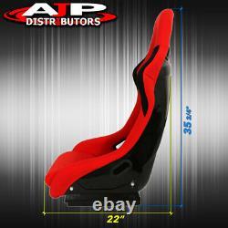 Spg Profi Style Jdm Full Bucket Racing Automotive Sièges Avec Sliders Red Cloth