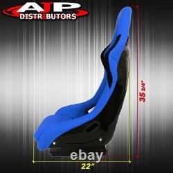Spg Profi Style Jdm Full Bucket Racing Sièges D'auto Automobiles Avec Curseur Tissu Bleu