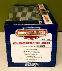 Supercar Ltd. Ed. Sox & Martin'70'cuda P/s Heritage Racing Series 1 Voir Les Photos