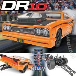 Team Associated 1/10 Dr10 Drag Race Car Ready To Run Orange Asc70025 En Stock