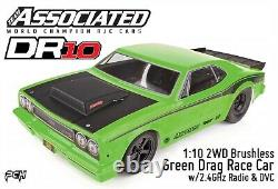 Team Associated Dr10 110 2wd Brushless Green Drag Race Car Rtr Asc70026