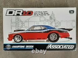 Team Associated Dr10 Electric Drag Car Race Kit 70027 Flambant Neuf