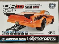 Team Associated Dr10 Rtr Brushless Drag Race Car Orange With2.4ghz Radio & DVC Nouveau