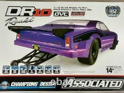 Team Associated Dr10 Rtr Brushless Drag Race Car Purple Radio Battery & Charger