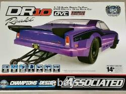 Team Associated Dr10 Rtr Brushless Drag Race Car (purple) Avec2.4ghz Radio & DVC