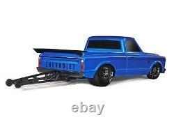 Traxxas Drag Slash 1/10 Rc Rtr Electric 2wd Pas De Prep Race Camion / Voiture Bleu Couleur