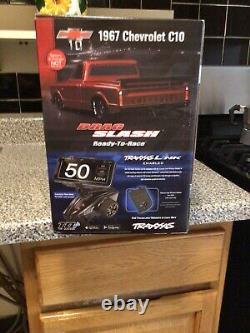 Traxxas Drag Slash 1/10 Rc Rtr Electric 2wd Pas De Prep Race Camion / Voiture En Couleur Bleue