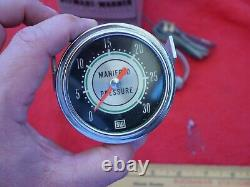 Vintage 1960 Stewart Warner Ligne Verte Manifold Pressure Gauge