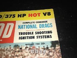 Vintage Décembre 1960 Hot Rod Magazine Drag Racing Nhra Dépannage Ignition